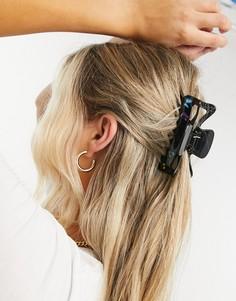 Заколка для волос черного цвета с принтом бабочек ASOS DESIGN-Черный