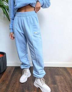 Голубые джоггеры oversized с логотипом-галочкой Nikе-Синий Nike