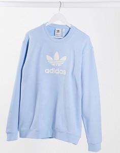 Голубой свитшот adidas Originals Premium-Синий