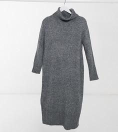 Темно-серое платье с высоким воротом New Look Meternity-Серый