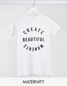 Белая футболка с надписью Mamalicious-Белый Mama.Licious