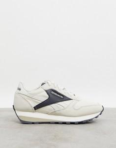 Бежевые кожаные кроссовки Reebok Classic AZ-Бежевый