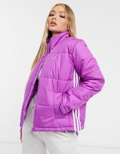 Фиолетовый пуховик adidas Originals