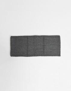 Серый вязаный шарф-снуд Pieces