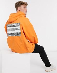 Анорак с логотипом Calvin Klein Jeans Established 1978-Оранжевый