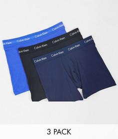 Набор из трех боксеров-брифов в разных цветах с логотипом на поясе Calvin Klein-Мульти