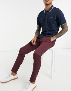 Бордовые брюки для костюма Jack & Jones Premium-Красный
