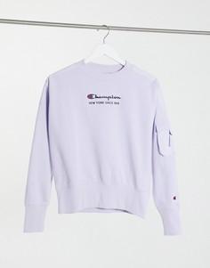 Лиловый свитшот из ткани рипстоп Champion-Фиолетовый