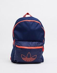 Темно-синий рюкзак с логотипом-трилистником adidas Originals-Черный