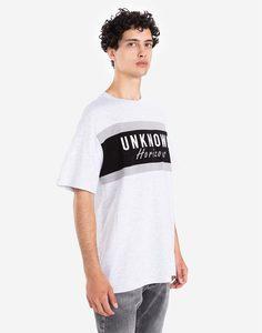Белая футболка oversize со вставками и вышивкой Gloria Jeans