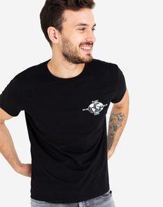 Черная футболка с принтом Gloria Jeans