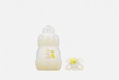 Набор: Бутылочка для кормления и Пустышка силиконовая, 0+ месяцев MAM