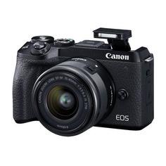 "Цифровые фотоаппараты Фотоаппарат Canon EOS M6 Mark II черный 32.5Mpix 3"" 4K WiFi 15-45 IS STM + EVF LP-E17 (с объективом)"