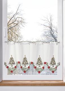 Новинки Занавеска кухонная с новогодней вышивкой Bonprix