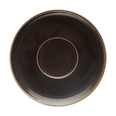 Блюдце Башкирский фарфор Принц 14,5 см коричневый