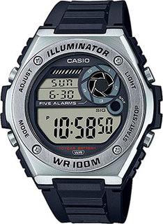 Японские наручные мужские часы Casio MWD-100H-1AVEF. Коллекция Digital