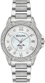 Японские наручные женские часы Bulova 96R232. Коллекция Marine Star Ladies