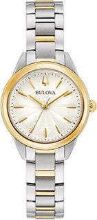 Японские наручные женские часы Bulova 98L277. Коллекция Sutton
