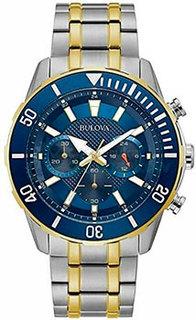 Японские наручные мужские часы Bulova 98A246. Коллекция Sports