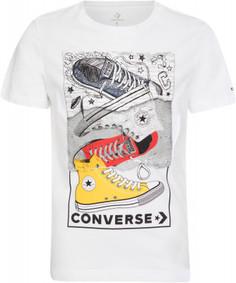 Футболка для мальчиков Converse Mixed Media Sneaker Stack, размер 164