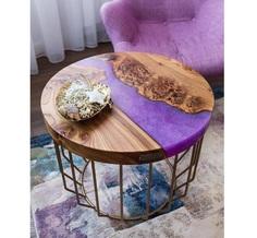Журнальный столик (kovka object) фиолетовый 65.0x55.0x65.0 см.
