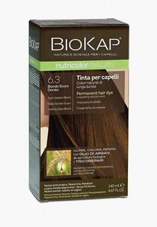 Краска для волос Biokap тёмно-русый золотистый 6.3, 140 мл