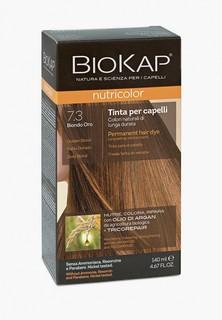 Краска для волос Biokap золотистый блондин 7.3, 140 мл