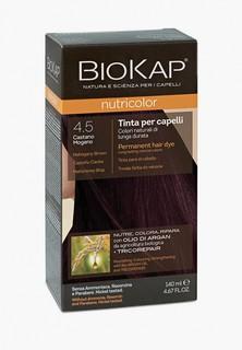Краска для волос Biokap махагон (тёмно-коричневато красный) 4.5, 140 мл