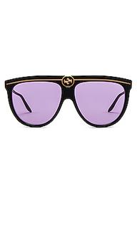 Солнцезащитные очки flat top - Gucci