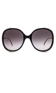 Солнцезащитные очки round fork - Gucci