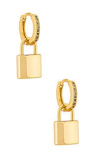 Серьги-кольца leni padlock - Natalie B Jewelry
