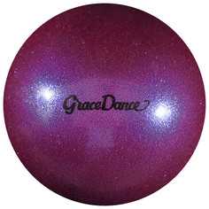 Мяч для художественной гимнастики, блеск, 16,5 см, 280 г, цвет сиреневый Grace Dance