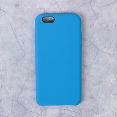 Чехол luazon силиконовый iphone 6, синий
