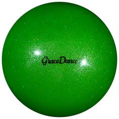 Мяч для художественной гимнастики, блеск, 18,5 см, 400 г, цвет зелёный Grace Dance