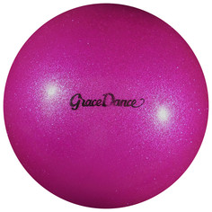 Мяч для художественной гимнастики, блеск, 18,5 см, 400 г, цвет розовый Grace Dance