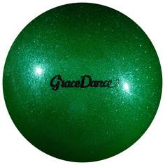 Мяч для художественной гимнастики, блеск, 16,5 см, 280 г, цвет изумрудный Grace Dance