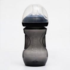 Бутылочка для кормления, 260 мл., широкое горло, цвет черный