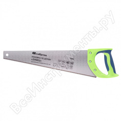 Ножовка по дереву сибртех зубец 400 мм, 7-8 tpi, зуб 2d, калёный зуб, 2-х компонентная рукоятка 23802
