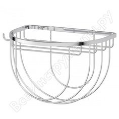 Полочка-решетка с крючком и держателем мочалок fbs 26 cm хром ryn 031
