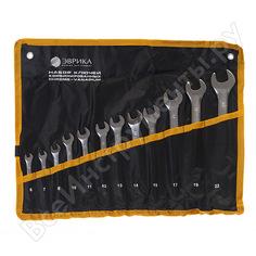 Набор комбинированных ключей 6-22мм сатинированных планшет 12 предметов эврика er-10120