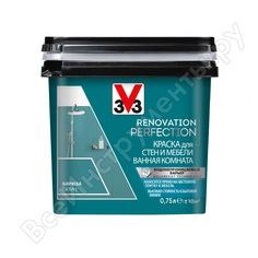 Краска для стен и мебели в ванной комнате v33 renovation perfection-бирюза 119709