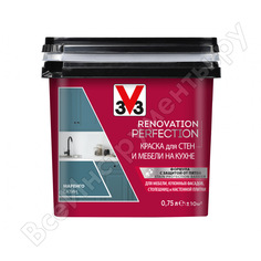 Краска для стен и мебели на кухне v33 renovation perfection-маренго 119703