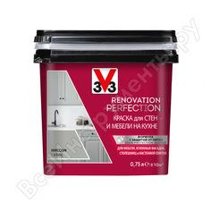 Краска для стен и мебели на кухне v33 renovation perfection-муссон 119700