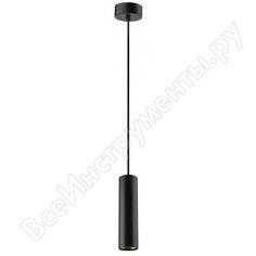 Подвесная подсветка эра pl1 gu10, bk 300, gu10, d80*300мм, черный б0041506