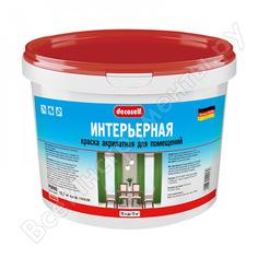 Интерьерная краска пуфас decoself белая морозостойкая 10л 15,7кг ки тов-148773