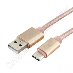 Кабель cablexpert серия ultra, usb 2.0 am/type-c, длина 1.8м, золотой, блистер cc-u-usbc01gd-1.8m