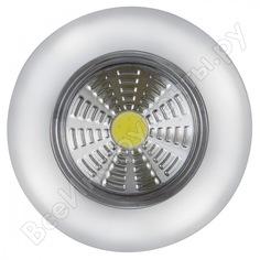 Светодиодный фонарь-подсветка rev, самоклеящийся, pushlight, металлик, 29099 5