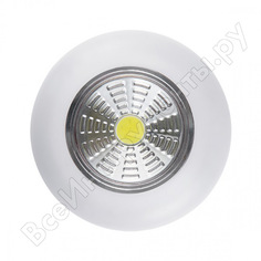 Светодиодный фонарь-подсветка rev, самоклеящийся, pushlight, 3pack, белый, 29098 8
