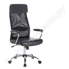 Офисное кресло, хром, экокожа, сетка, черное brabix flight ex-540 531850