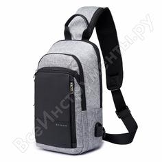 Плечевая сумка bange bg1911 для ноутбуков 10 дюймов, серая 60006-91
